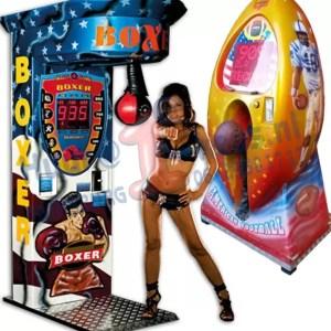 boksmachine, boksautomaat, voetbalkicker huren met of zonder muntinworp