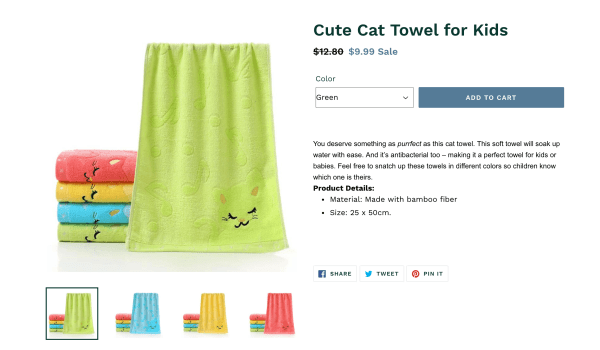 Cat Towel Product Description