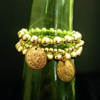 Gold Coil Stretchy Bracelets