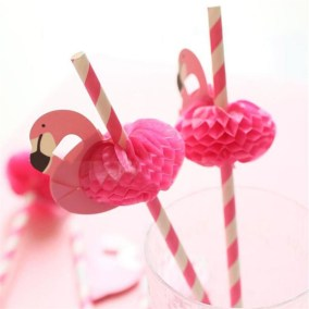 12pcs-New-Cute-font-b-Flamingo-b-font-font-b-Paper-b-font-Drinking-Straws-Wedding