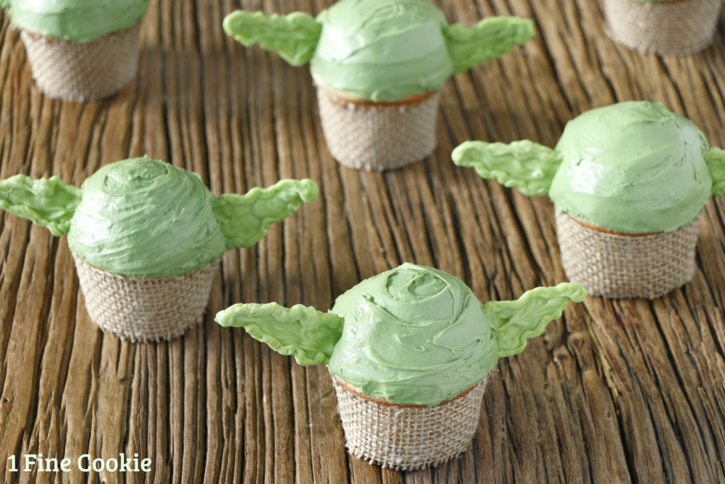Star Wars Yoda Cupcakes 1 Fine Cookie
