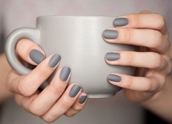 Beautiful matte manicure
