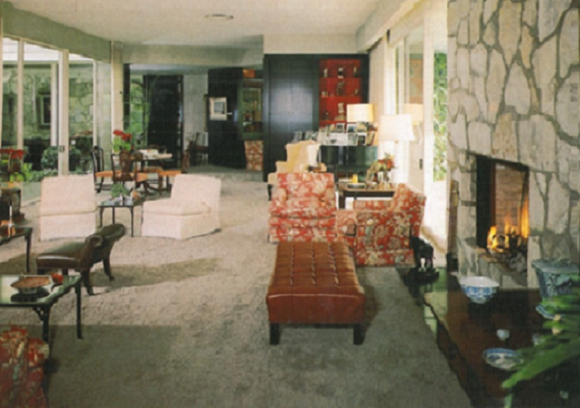 The Reagan living room.