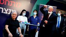 Israeli Prime Minister Benjamin Netanyahu receives vaccinations for covid-19.