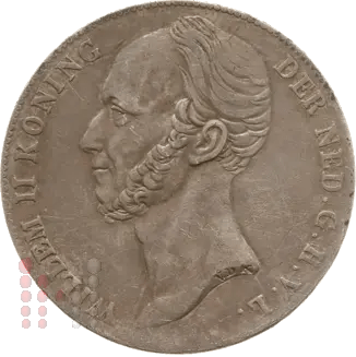 1842 Gulden Kort borstbeeld