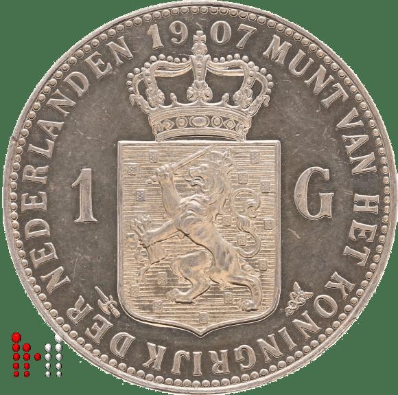 1907 Gulden Wilhelmina