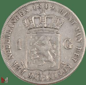 1849 gulden positiestreepje