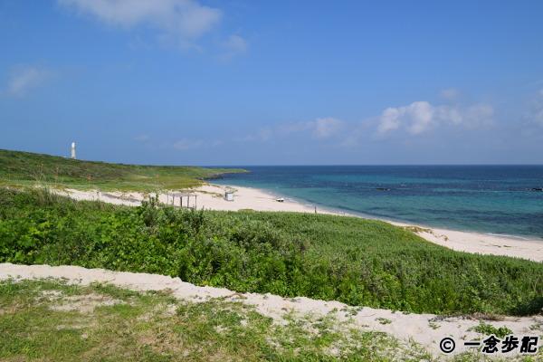 角島大浜キャンプ場の浜辺