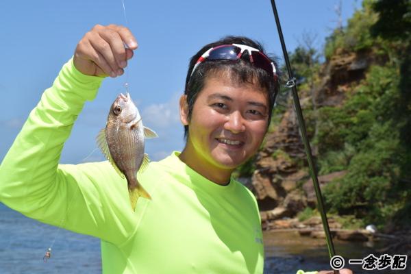 無人島で鯛を釣る