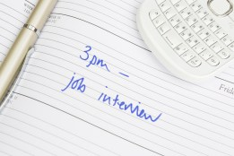 Time For Job Interview Written In Diary
