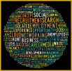 Social recruiting concept in word tag cloud