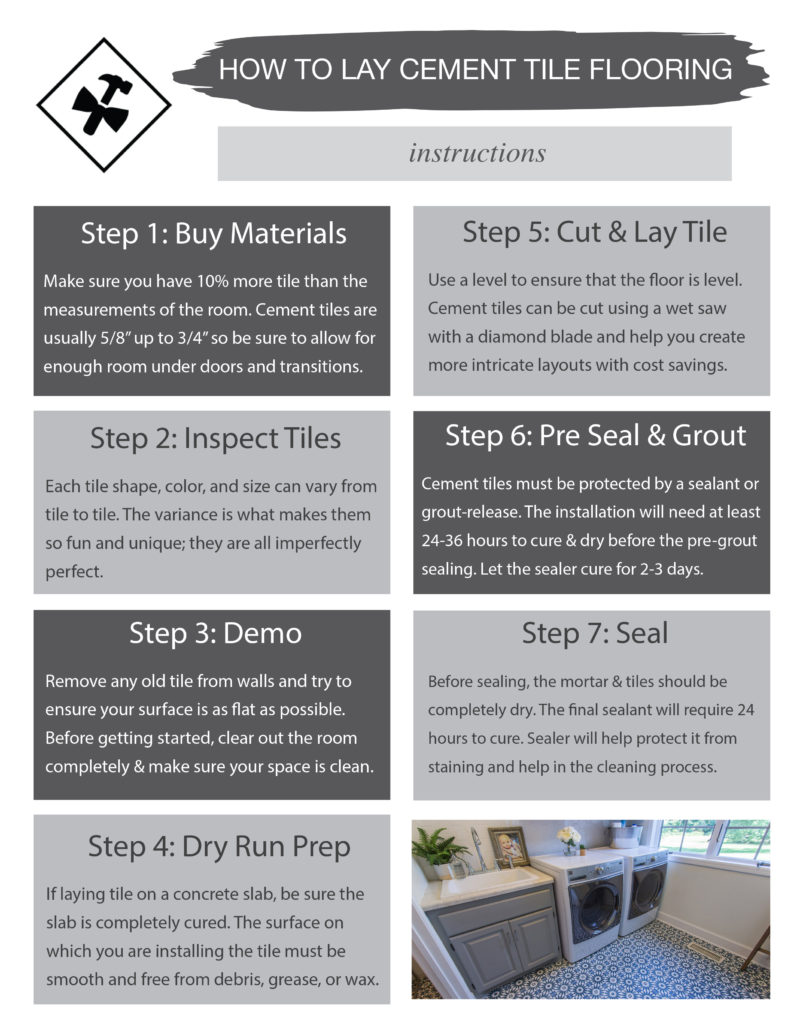 how to lay cement tile in 8 easy steps