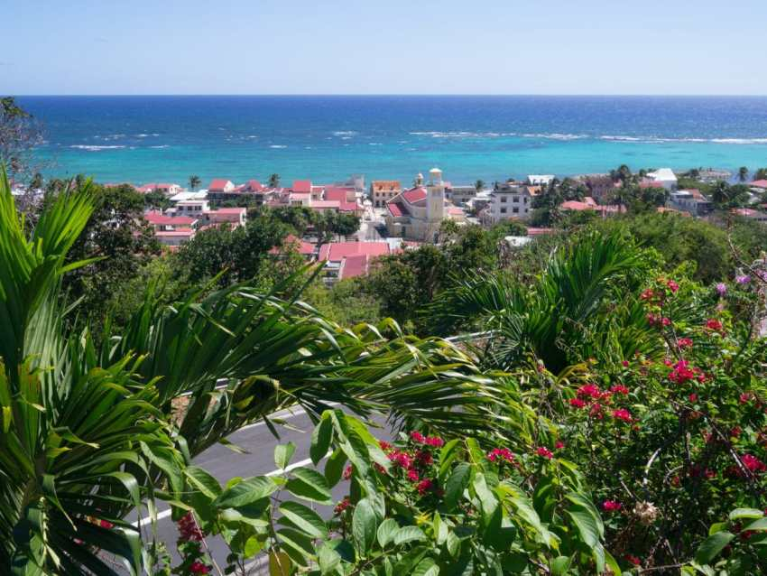 marie galante, guadeloupe, paysage, capesterre