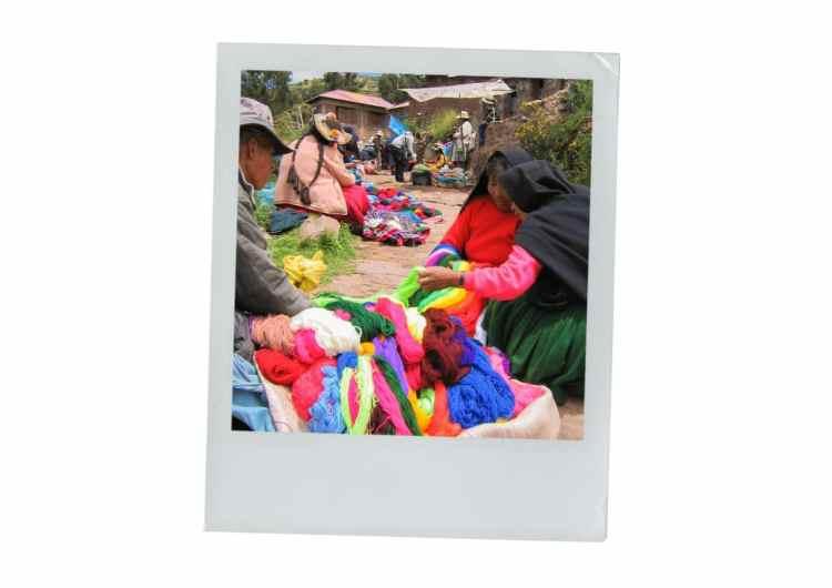 taquilé, marché, pérou, lac titicaca
