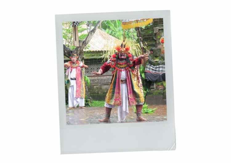 pluie, bali, indonésie, danse