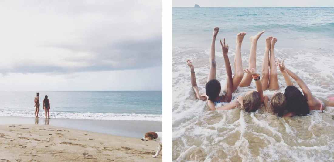 plage, guadeloupe, antilles