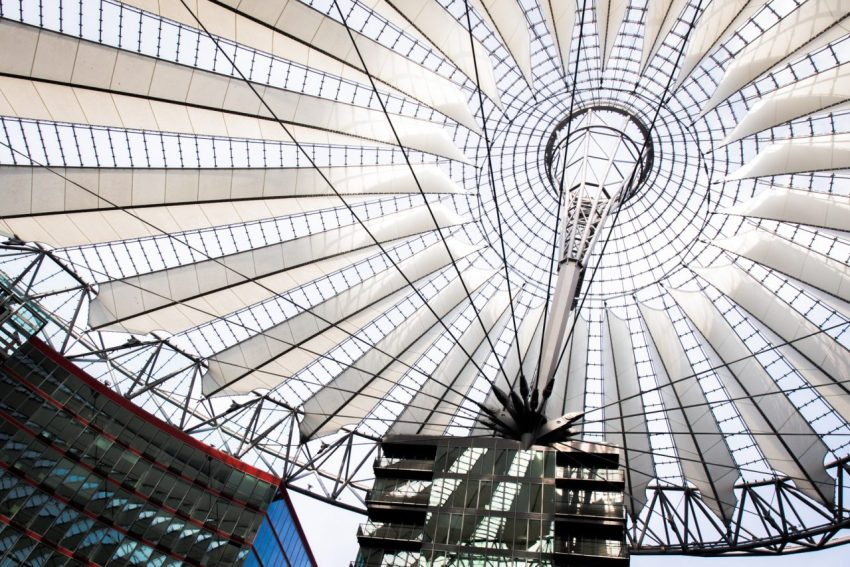 Potsdamer platz, Sony center, Berlin, allemagne, architecture