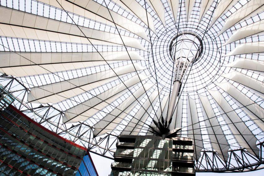 Potsdamer platz, Sony center, Berlin, allemagne, architecture