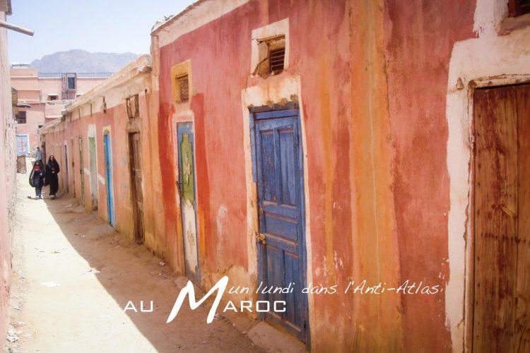 tafraout, maroc, rues, anti atlas, afrique du nord
