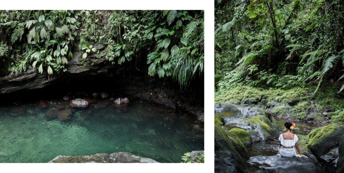 bassin paradise, capesterre, guadeloupe, cascade