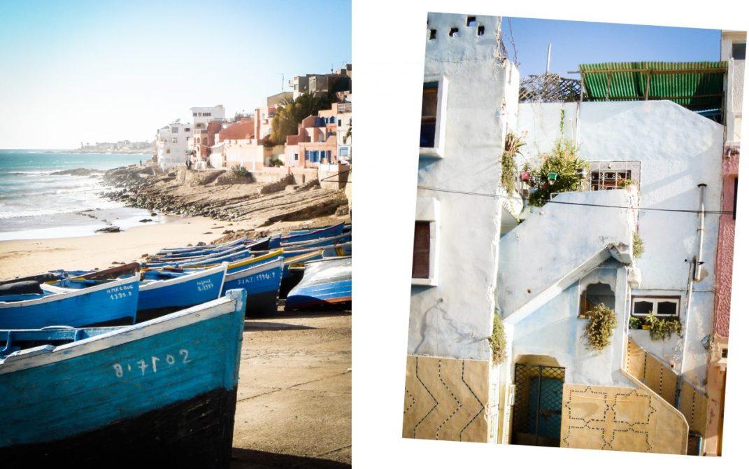 taghazout, maroc, pêcheurs