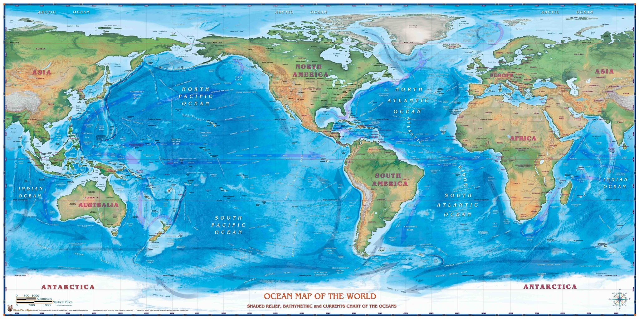 World Oceans Map