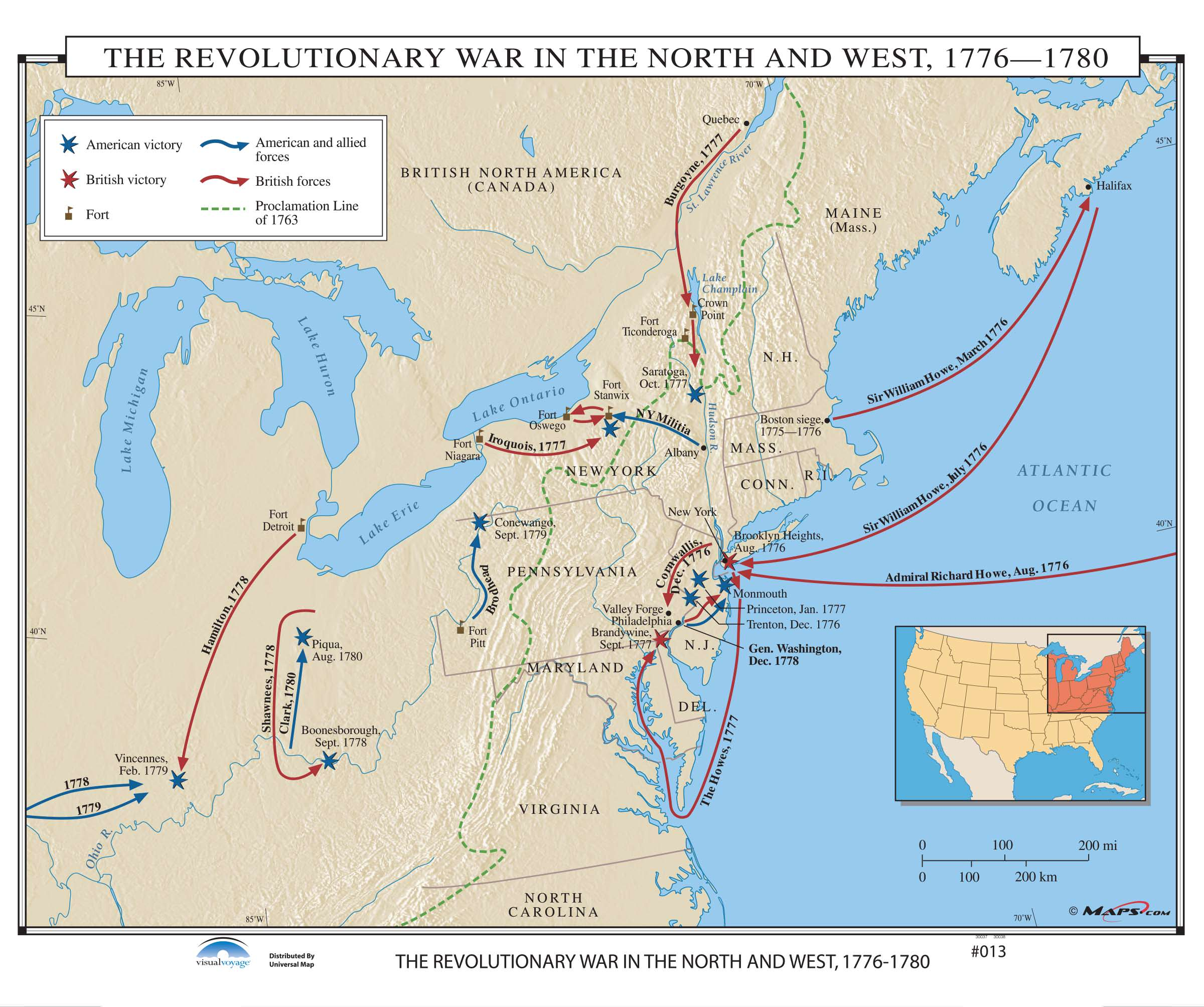 013 The Revolutionary War In The North Amp West