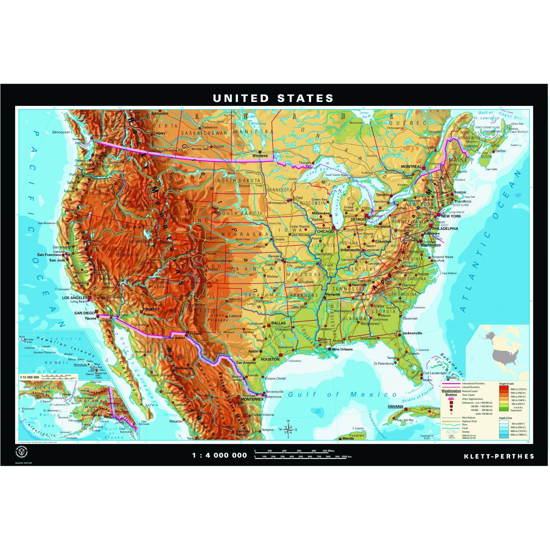 United States Physical Amp Political Maps