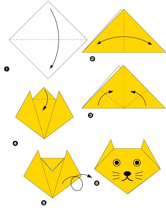 оригами кошки из бумаг в картинках ней предначертано