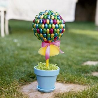 sladkiy_topiariy_25_06173127 Топиарий из конфет. Сладкий топиарий: дерево, яблоко, букет и часы из конфет