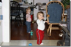 The twins patrol Grammy's like they own the place