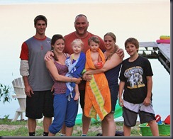 Family picture at Abrams Pond, Summer 2012.