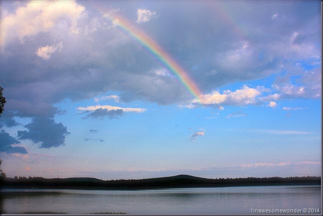 Rainbow over Abrams Pond 2014