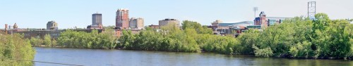 Manchester Downtown. Looking North and East across the Merrimack River.