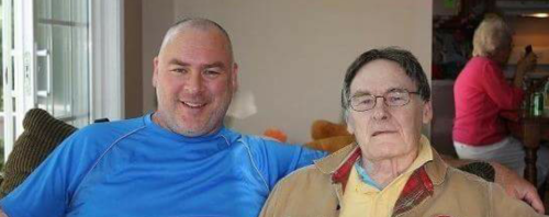 Dad and I, four years ago today. (c) 1inawesomewonder