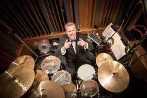John JR Robinson in his studio - Drums