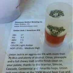 133. Firestone Walker Brewing – Union Jack IPA