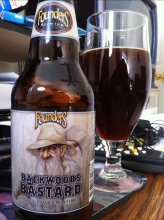 Founders Brewing Backwoods Bastard Ale Aged in Oak Bourbon Barrels