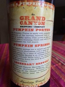 621. Grand Canyon Brewing - Pumpkin Springs Porter
