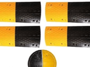 4m Rubber Traffic Speed Breaker Bump Hump with End