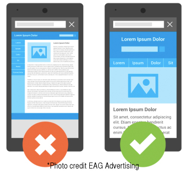 Creative website design translates into mobile