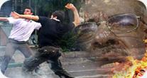درگیری های اراذل و اوباش با عزاداران در مرکز تهران