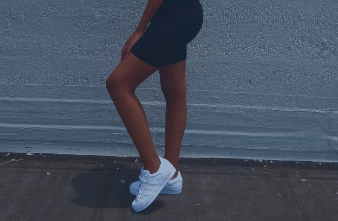 The white shoes