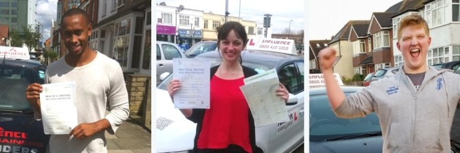 Recent driving test successes