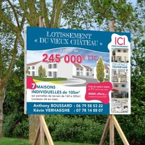 IDENTITE-IMMOBILIER-PANNEAU - 1 Noiseau à Paris - Graphiste illustratrice Webdesigner Val de Marne