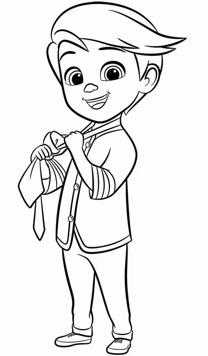 Boss Baby Coloring Pages Novocom Top
