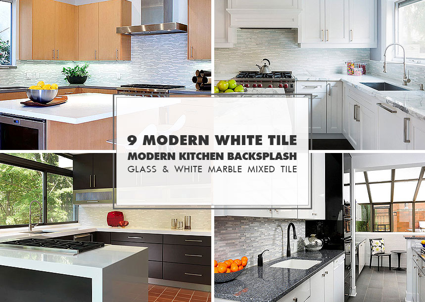 50+ White MODERN BACKSPLASH Ideas (Contemporary Design Style