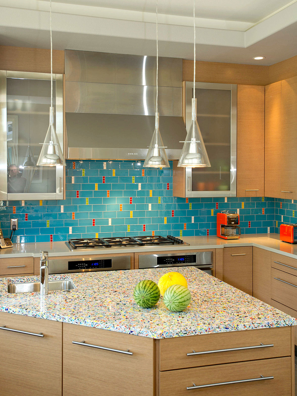 37 recycled glass countertop ideas