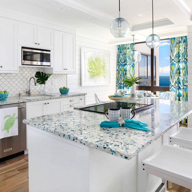 37 Recycled Gl Countertop Ideas