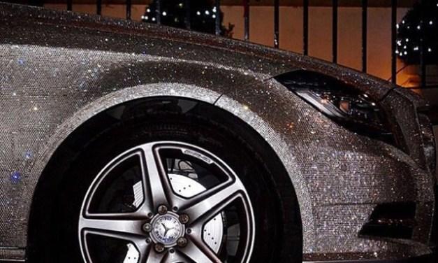 "Swarovski Mercedes ""BA11BYY"" Benz CLS"